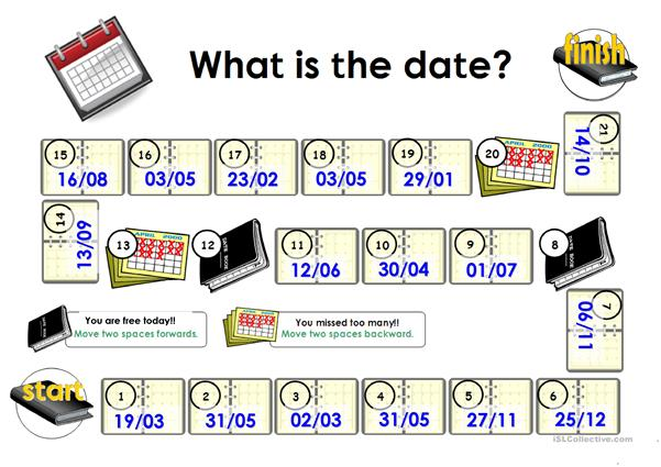 Dates_Game board