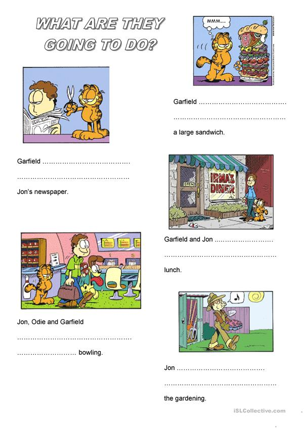 Garfield 'be going to'