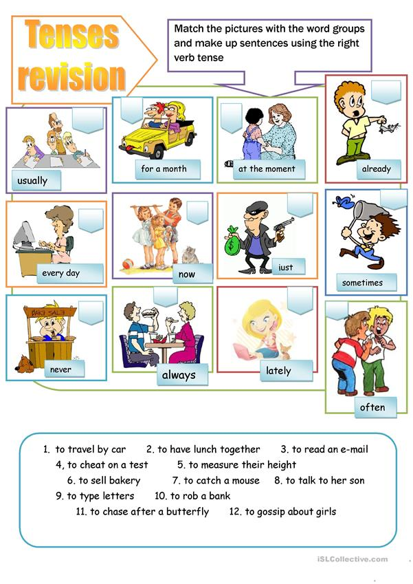 present tenses revision