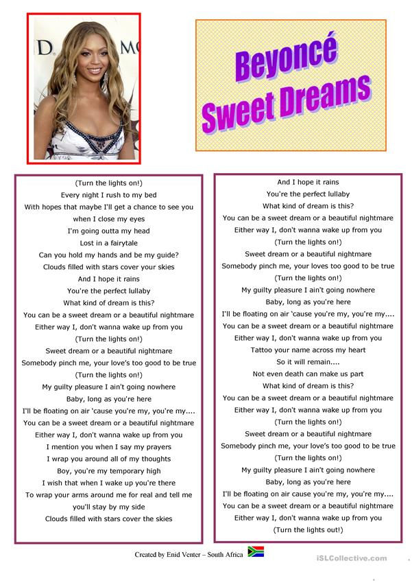 Song: Beyonce - Sweet Dreams
