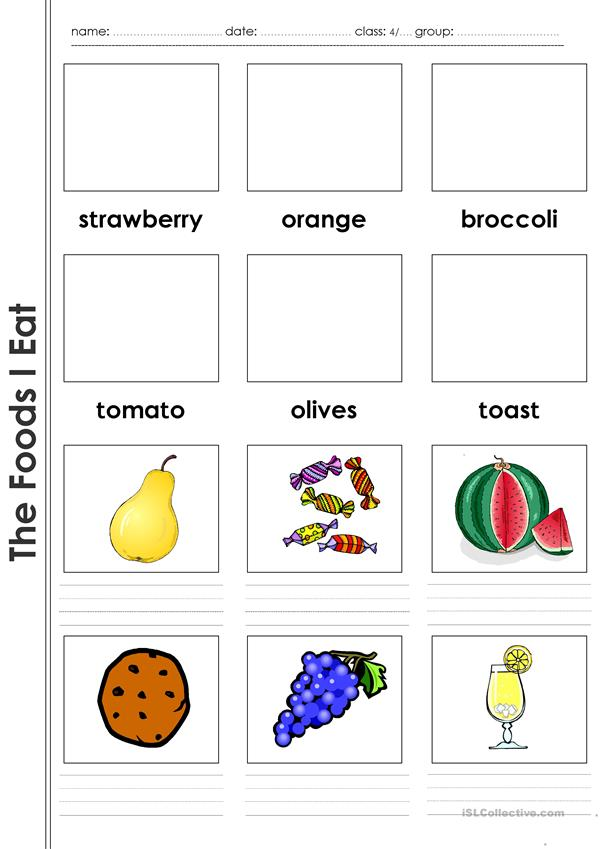The Foods I Eat _Vocabulary