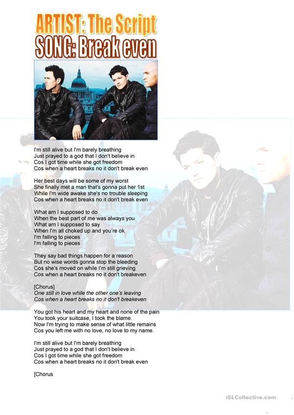 The Script: Break Even