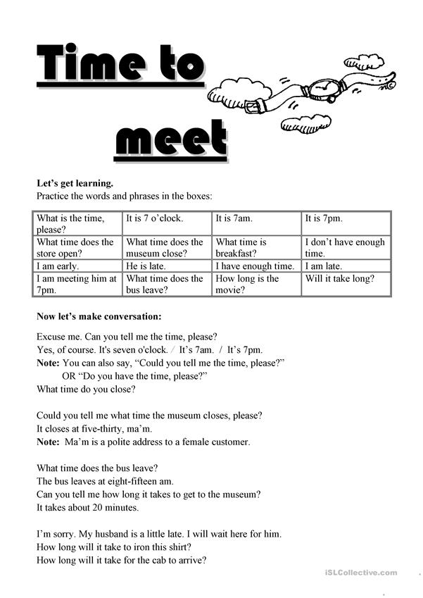 Travel - Time to meet