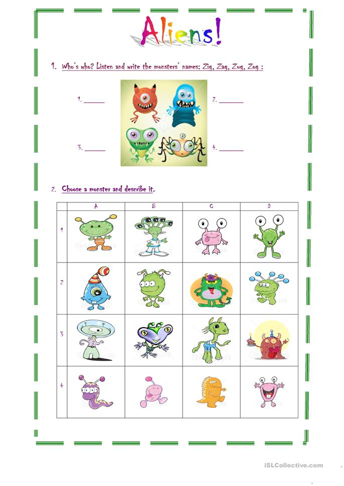 Aliens! - ESL worksheets
