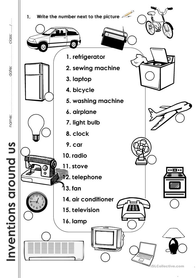 Inventions Around Us worksheet - Free ESL printable worksheets made by ...
