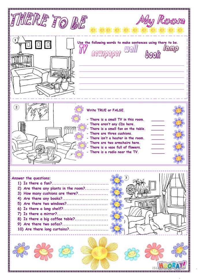 There to be - My room - ESL worksheets