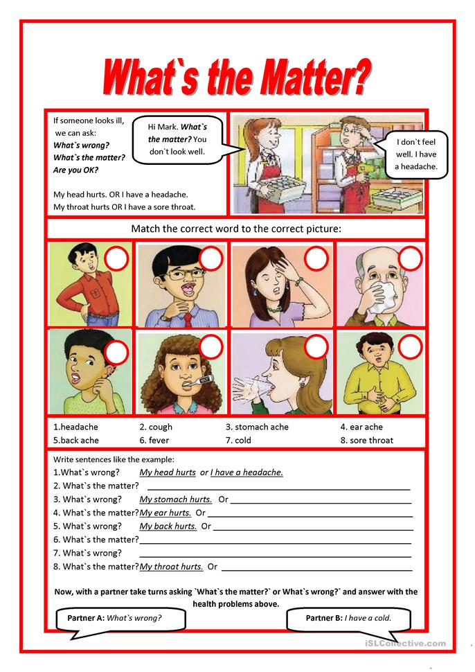trip to the doctor - ESL worksheets