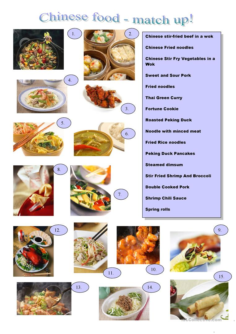 Chinese food worksheet free esl printable worksheets made by full screen forumfinder Choice Image