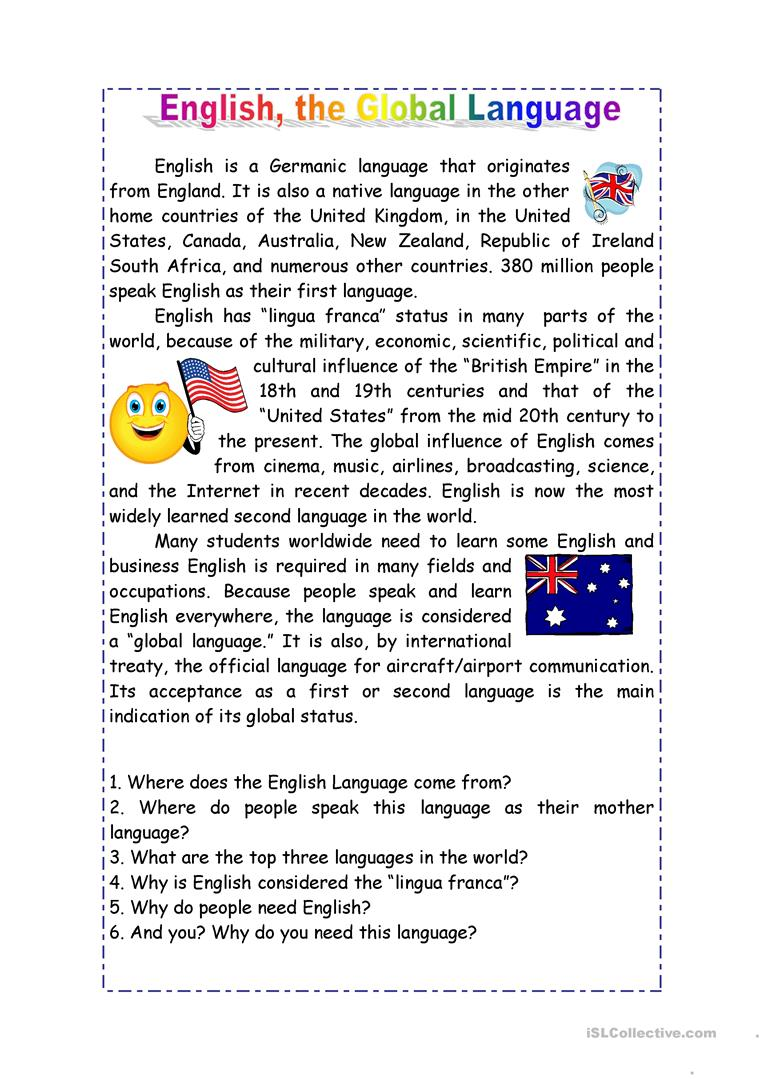 importance of english in today s world In today's global world, the importance of english can not be denied and ignored since english is the most common language spoken everwhere with the help of developing technology, english has been playing a major role in many sectors including medicine, engineering, and education, which, in my opinion, is the most important arena where.