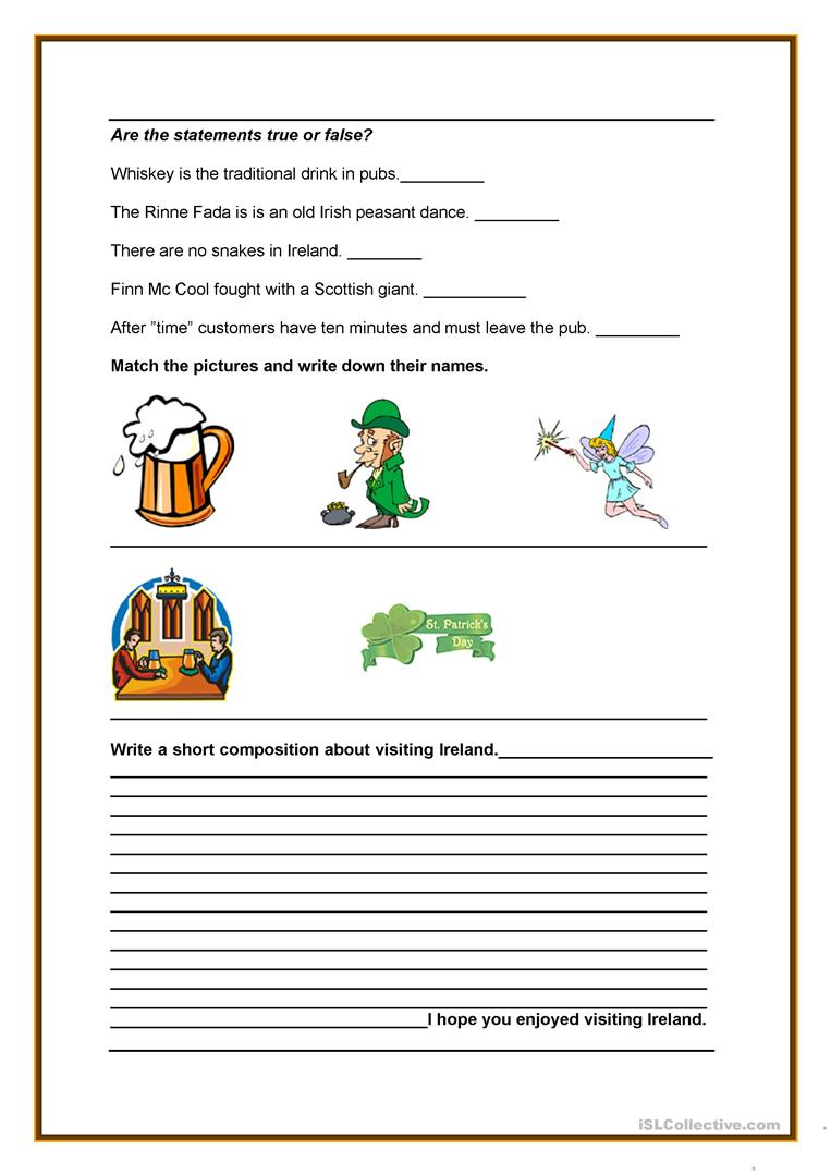 Uncategorized Ireland Facts For Kids interesting facts about ireland worksheet free esl printable full screen