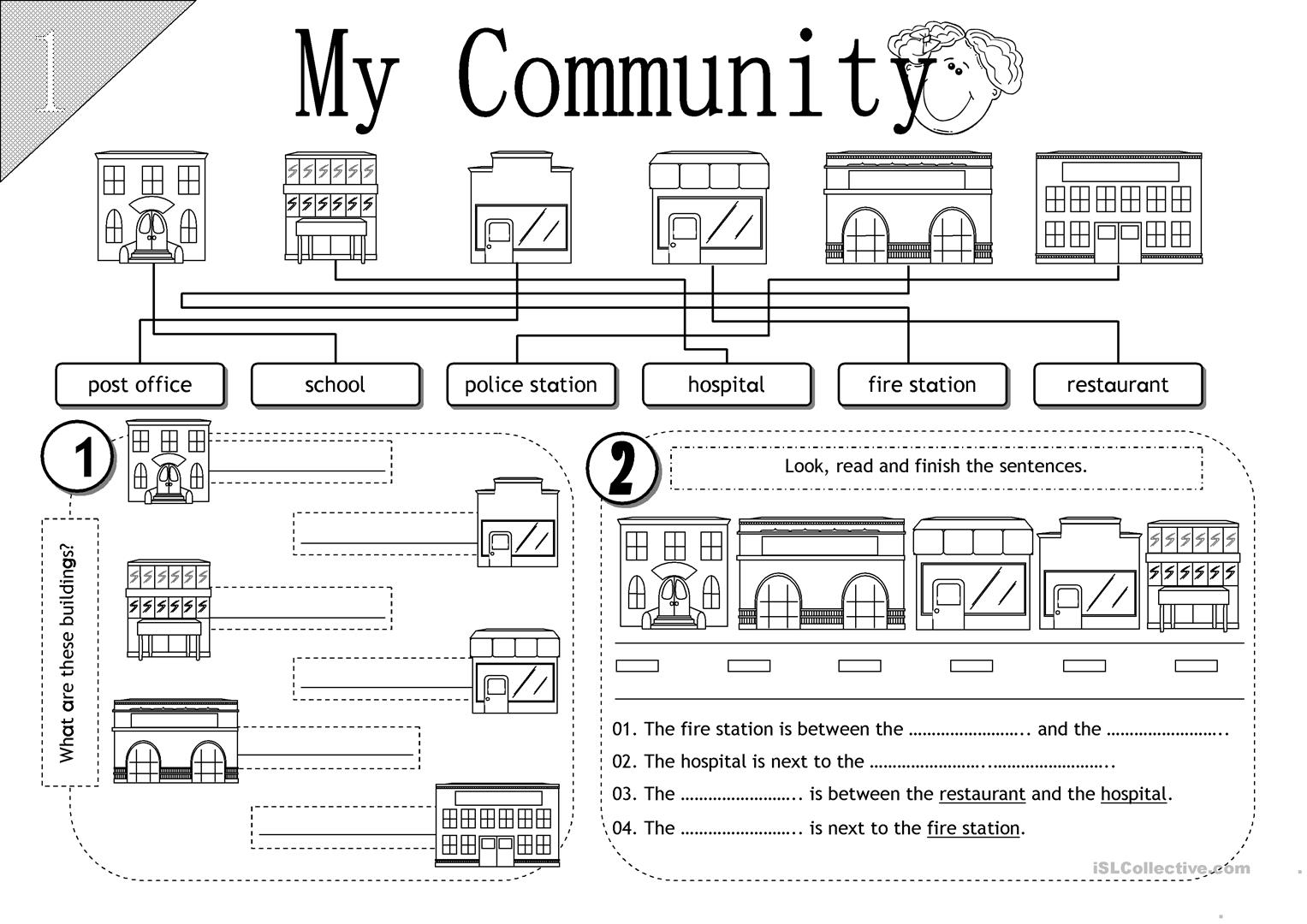 worksheet Community Worksheets 73923 free esl efl worksheets made by teachers for my community worksheets