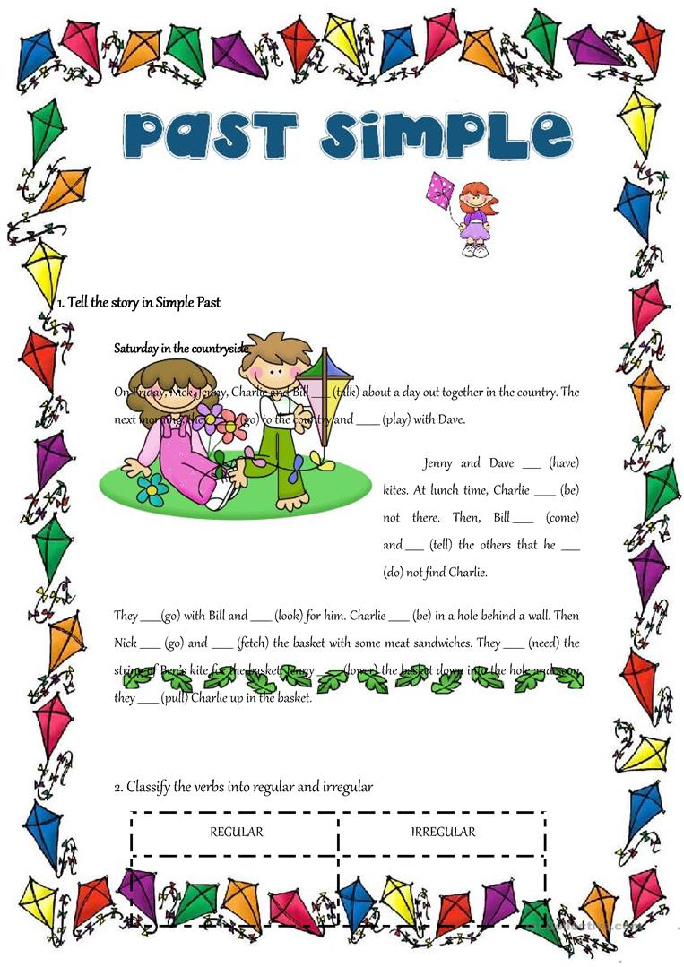 PAST SIMPLE REGULAR AND IRREGULAR VERBS - English ESL Worksheets