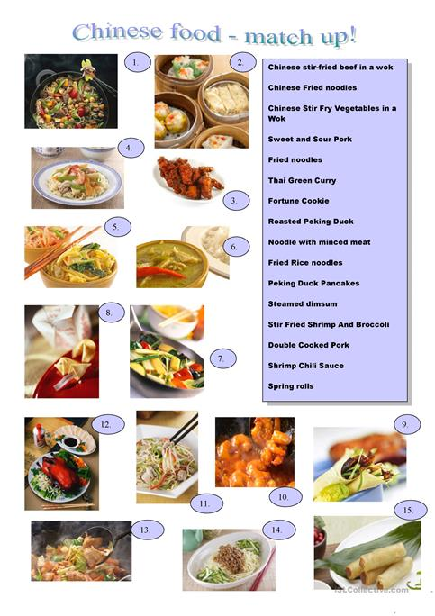 Chinese food worksheet free esl printable worksheets made by teachers chinese food forumfinder Image collections