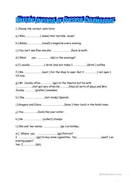 Ar Verb Conjugation Worksheet  Free Esl Present Continuous Worksheets Tlsbooks Worksheets Excel with Letter I Printable Worksheets Excel Present Continuous Or Simple Math Worksheets Center Excel