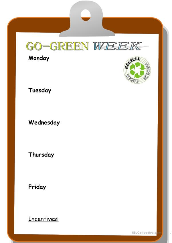 Go-Green Week at Your Company