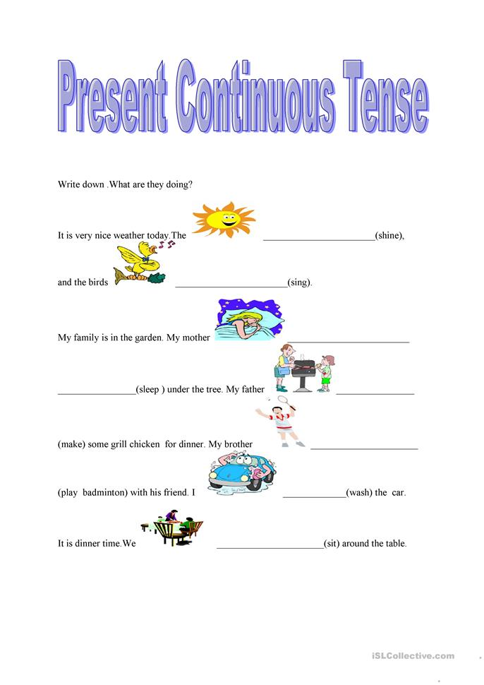 Worksheets Continuous Tense Worksheet 59 free esl present continuous tense worksheets tense