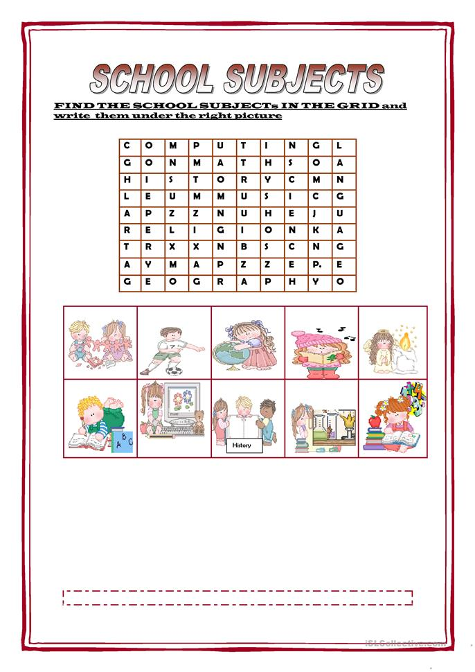 School Worksheets For Teachers : School subjects worksheet free esl printable worksheets