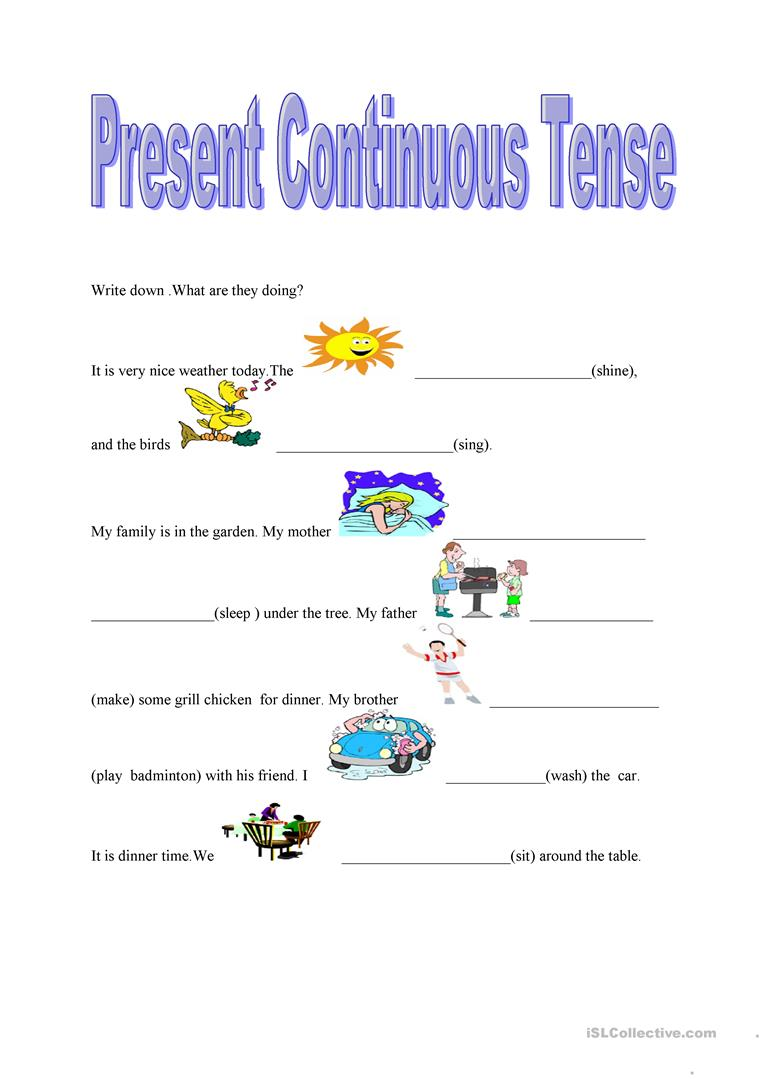 Present continuous tense worksheet Free ESL printable worksheets – Present Progressive Worksheet