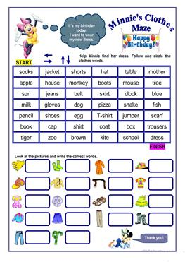 859 Free Esl Clothes Fashion Worksheets
