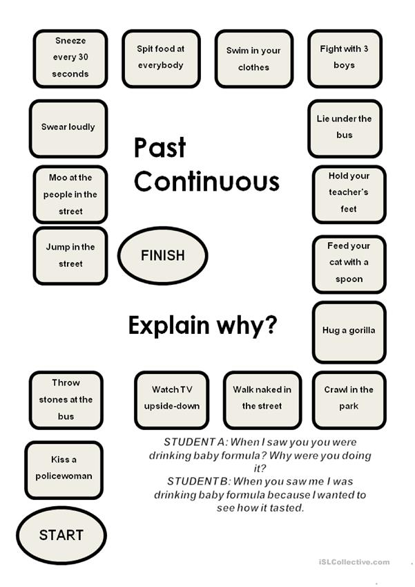 Past Continuous-a boardgame