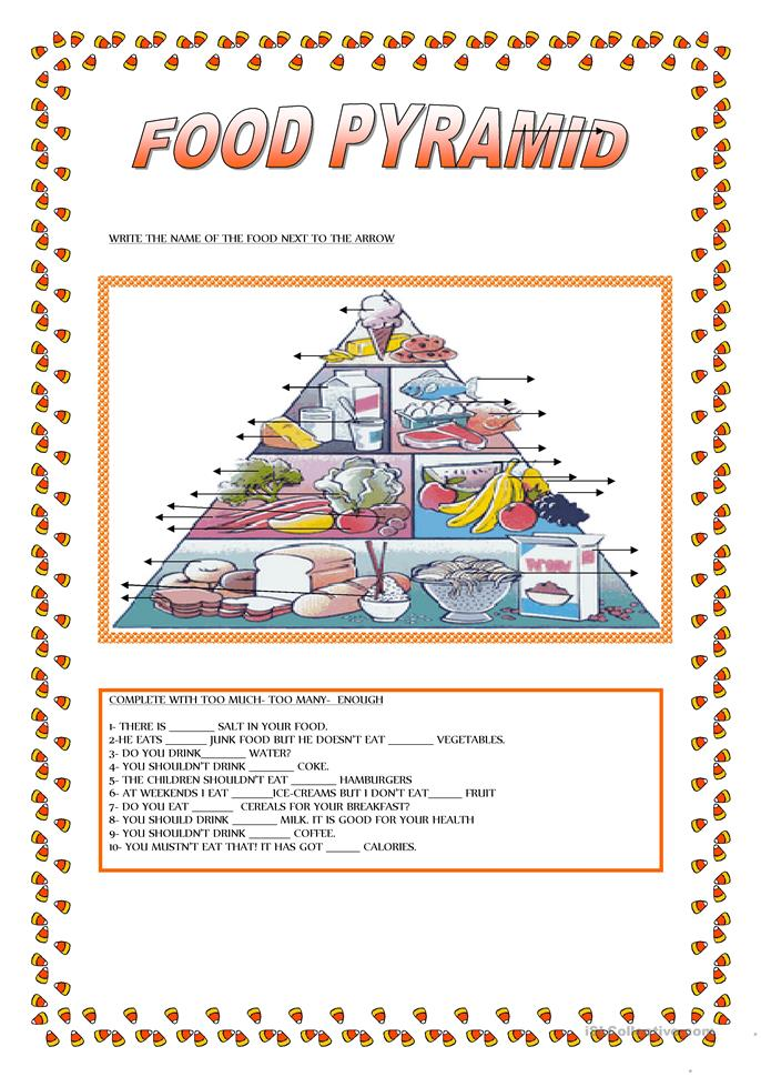 Worksheets Food Guide Pyramid Worksheets 17 free esl food pyramid worksheets pyramid