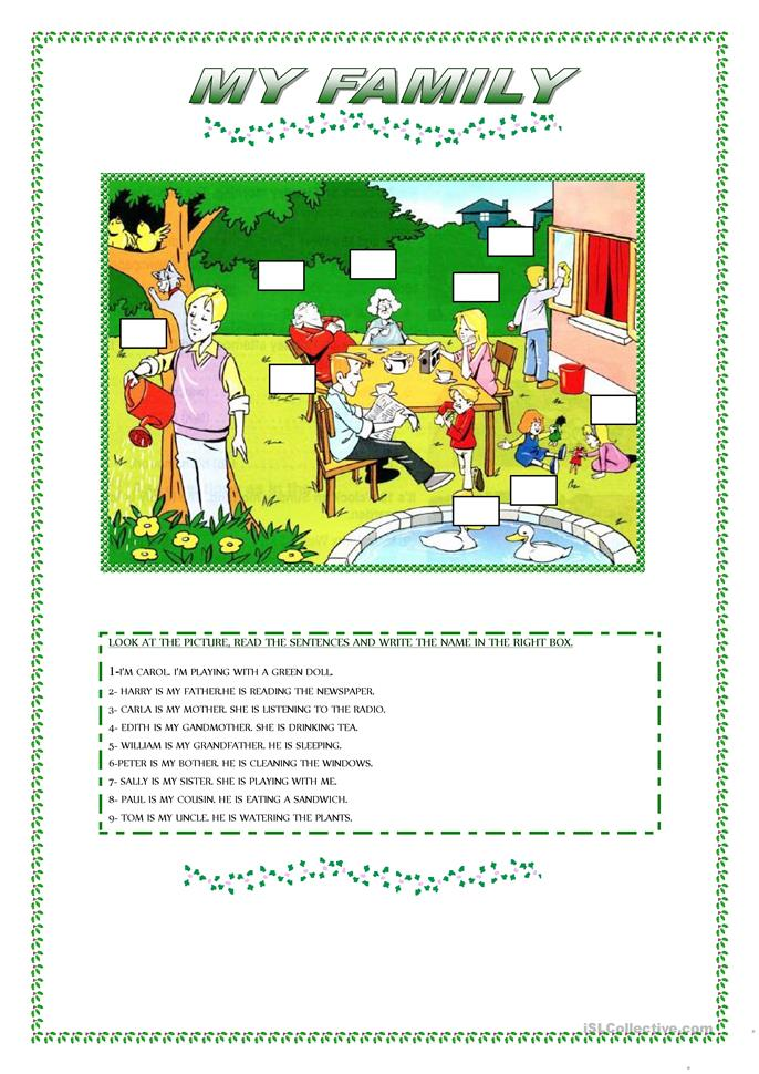 MY FAMILY - ESL worksheets
