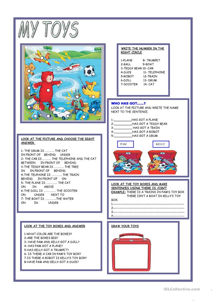 MY TOYS - ESL worksheets