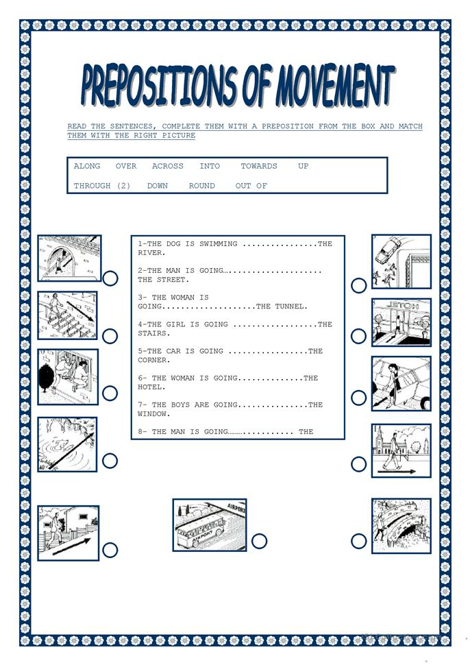 Worksheets Esl Preposition Worksheets 5 free esl preposition of movement worksheets movement