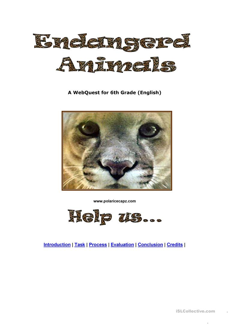 Endangered Animals Worksheet Free Esl Printable Worksheets Made By