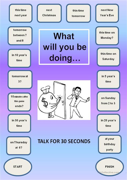 Future Continuous - a boardgame worksheet - Free ESL printable ...