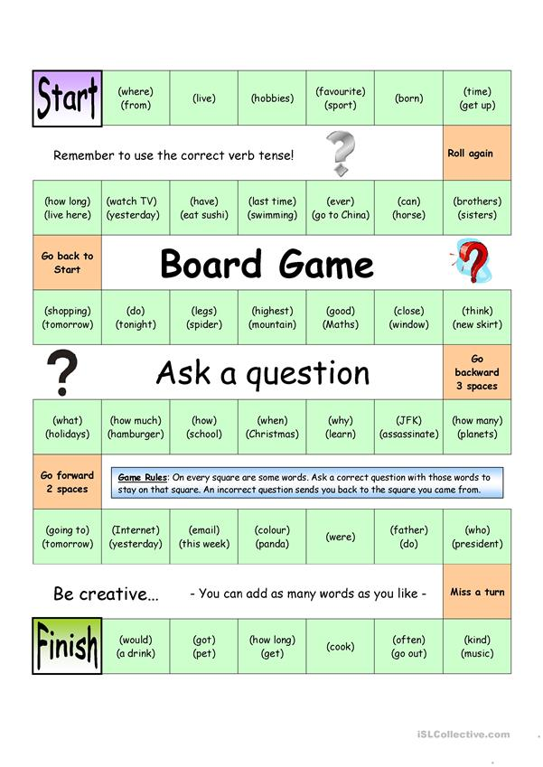 Board Game - Ask a Question (Medium)