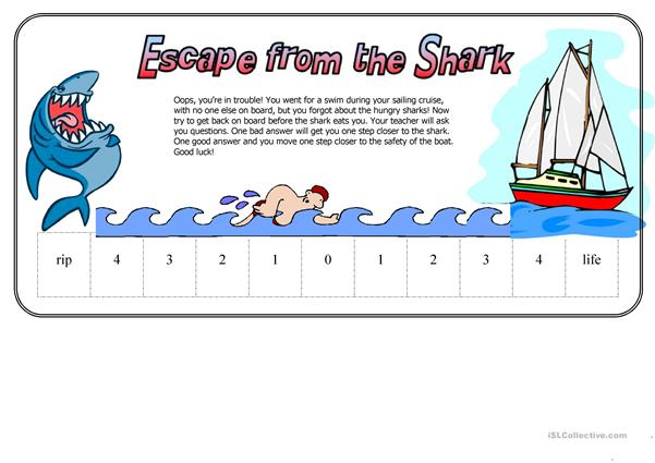 Escape From The Shark (Fun Way to test Students)