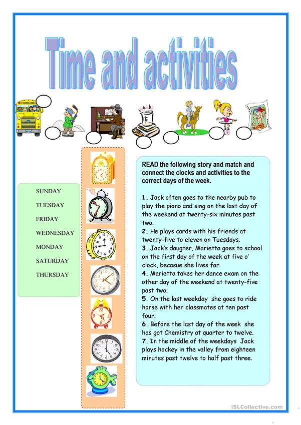 Time and activities