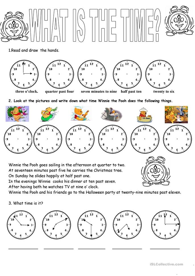 369 FREE ESL Time worksheets