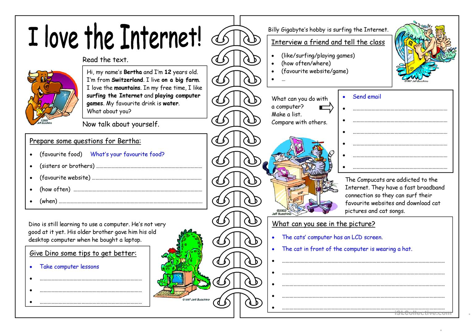 62 FREE ESL internet worksheets