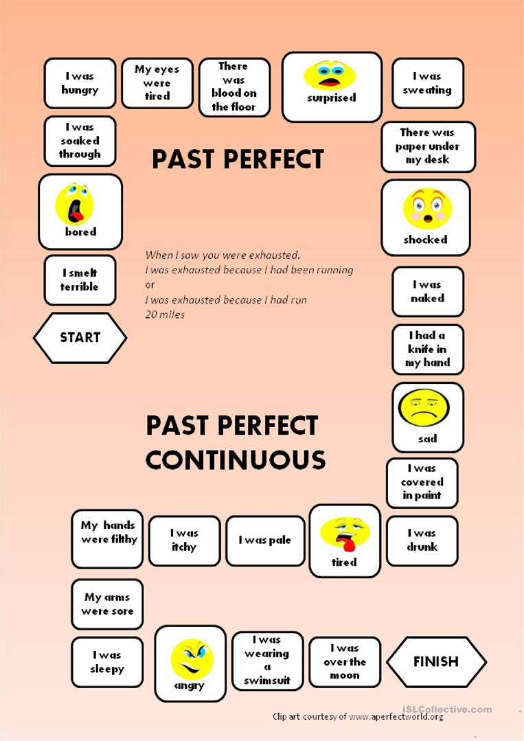 Past Perfect - Past Perfect Continuous - a boardgame
