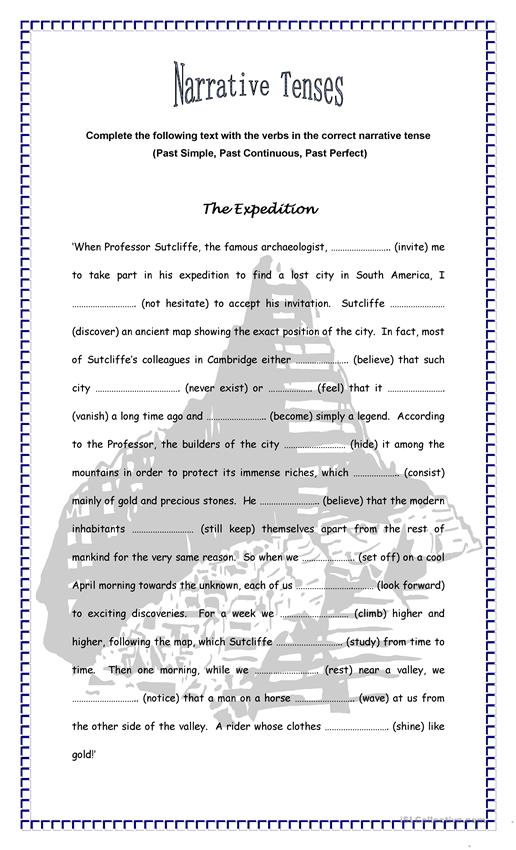 The Expedition - Narrative Tenses