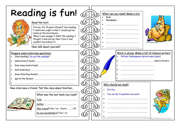 70 FREE ESL Books and reading worksheets – Reading Worksheet