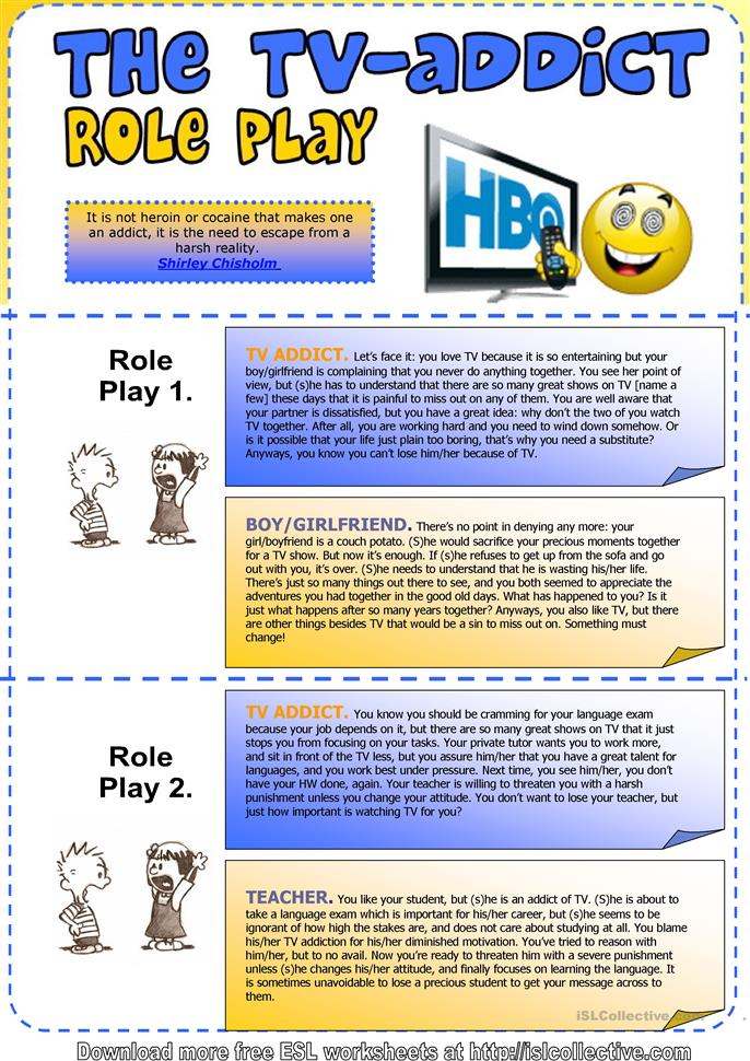 Printables Family Roles In Addiction Worksheets 22 free esl addiction worksheets tv addict role play