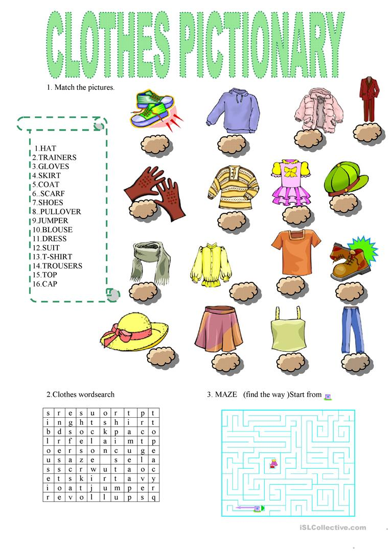Clothes   English ESL Worksheets for distance learning and ...