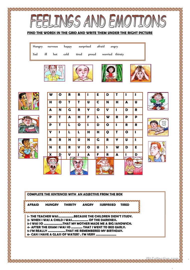 Worksheets Mood Worksheets 220 free esl adjectives to describe feelings mood tone worksheets and emotions