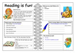 Four Skills Worksheet Reading Is Fun