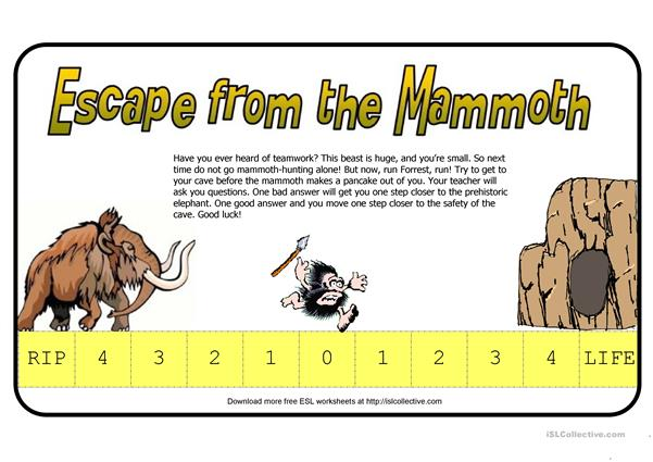 Escape From The Mammoth (Fun Way To Test Students)