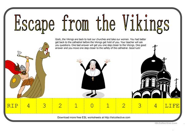 Escape From The Vikings (Fun Way To Test Students)