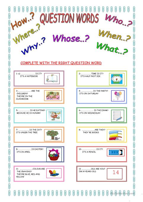 Question Words Worksheet Free Esl Printable Worksheets Made By