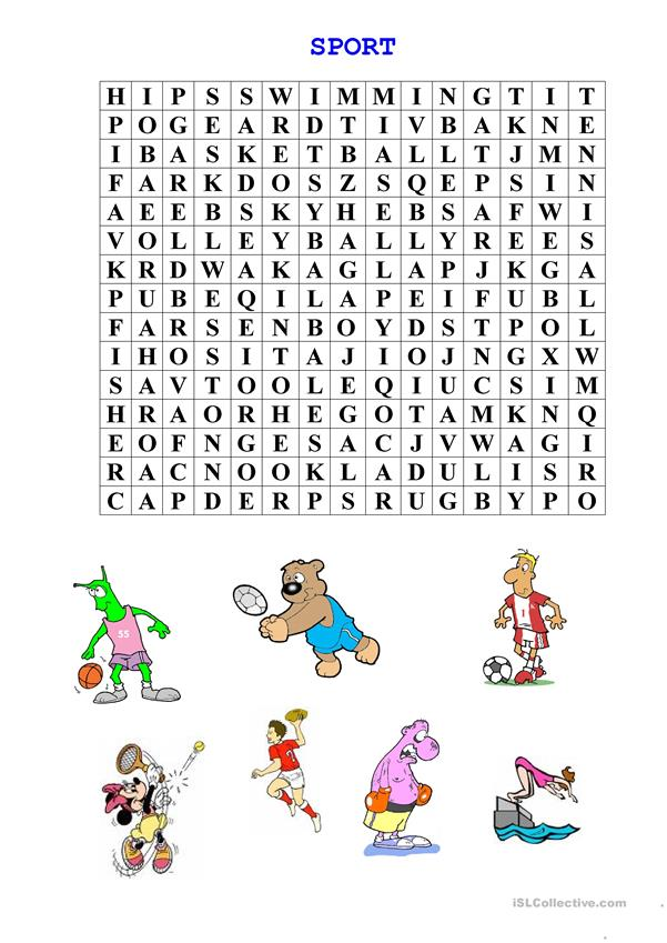 sport - wordsearch