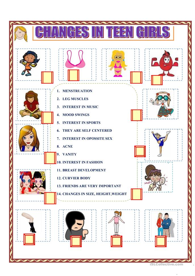 Printables Puberty Worksheets worksheets davezan puberty davezan