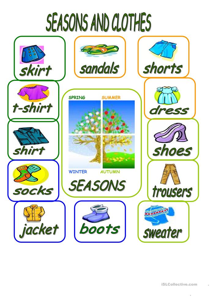 seasons and clothes worksheet free esl printable worksheets made by teachers. Black Bedroom Furniture Sets. Home Design Ideas
