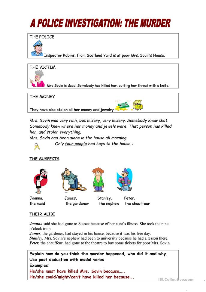 Printables Deduction Worksheet 15 free esl deduction worksheets