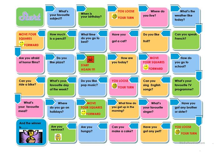 THE PRESENT SIMPLE GAME worksheet - Free ESL printable ...